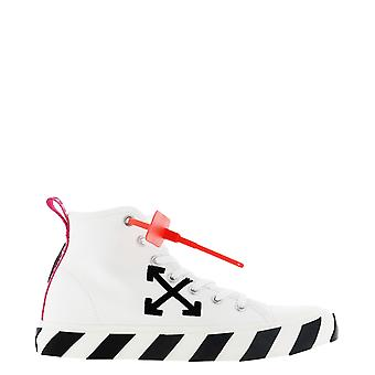 Off-white Omia119s20d330380110 Men's White Fabric Hi Top Sneakers