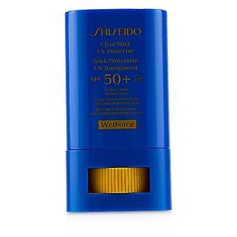 ברור מקל Uv מגן הרטוב עבור פנים & amp; Spf הגוף 50 + (הגנה גבוהה מאוד & amp; עמיד מאוד במים)-15g/0.