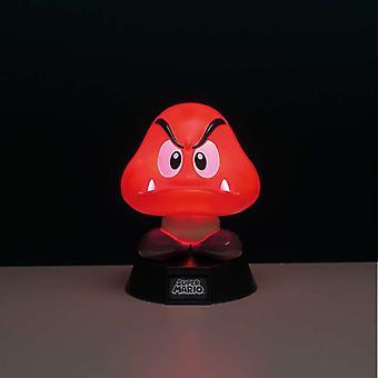 سوبر ماريو Goomba 3D مصباح إضاءة مريحة