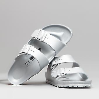 Биркенсток Аризона 1003491 (нар) Дамы Ева Два ремешка сандалии Металлическое серебро