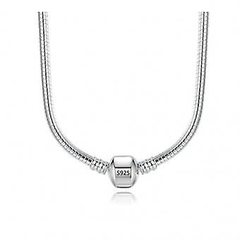 Sterling Silver Snake Halsband - 6589