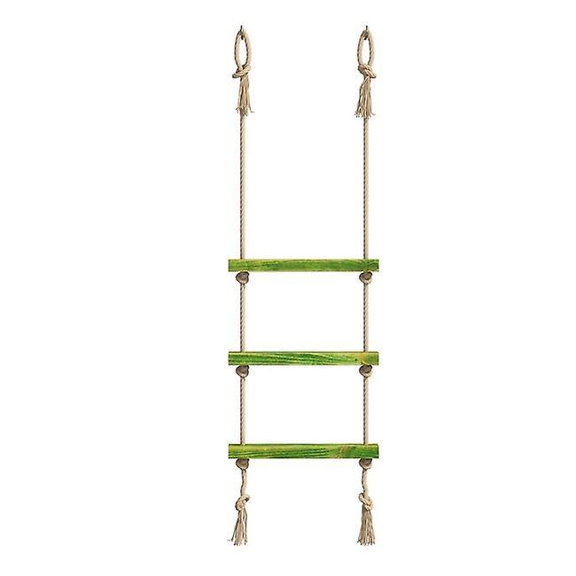 Mensola Halatli Colore Verde, Ecru in Legno, Juta, L50xP9xA125 cm