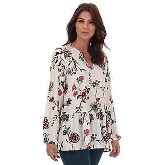 Women's Jacqueline de Yong Ruby Floral Print Tunic in White