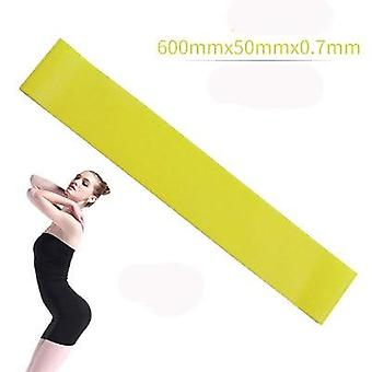 5 colors yoga resistance rubber bands indoor outdoor fitness equipment 0.35mm 1.1mm pilates sport training workout elastic bands