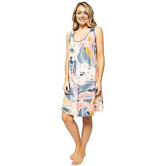 Cyberjammies Hallie 4517 Women's Peach Mix Abstract Print Nightdress