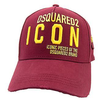 Dsquared2 Icon Abzeichen Cap Burgund