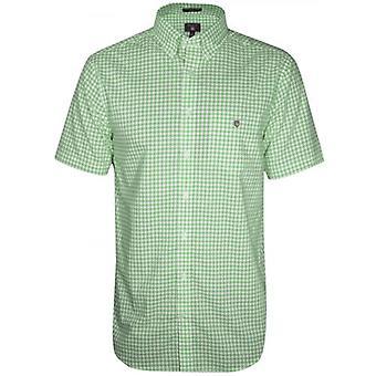 GANT Pool Green Check Regular Lyhythihainen paita