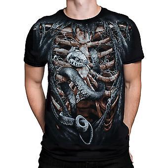 Aquila - bone cage - mens t-shirt