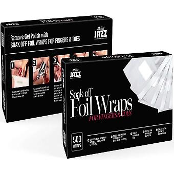 Al dat Jazz Soak Off Foil Wraps - For Fingers and Toes - 500 Wraps