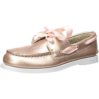 Kids Sperry Girls Authentic Leather Slip On