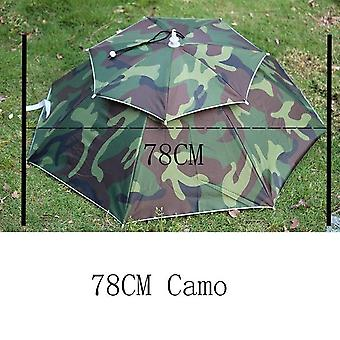 Fishing Cap Umbrella Sunny And Rainy Umbrella For Womens Windproof Head Umbrellas Caps