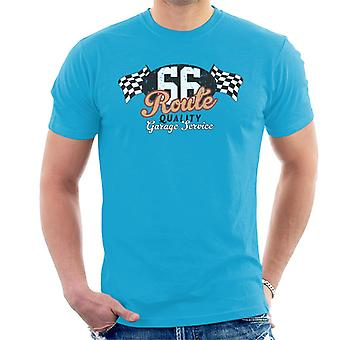 Route 66 Garage Services Racing Flagge Herren's T-Shirt