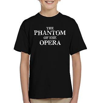 The Phantom Of The Opera Shattered Text Logo Kid's T-Shirt