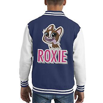 Littlest Pet Shop Roxie Cut Out Lettering Kid's Varsity Jacket