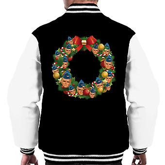 Thunderbirds Weihnachtskranz Multiface Alan Men's Varsity Jacke