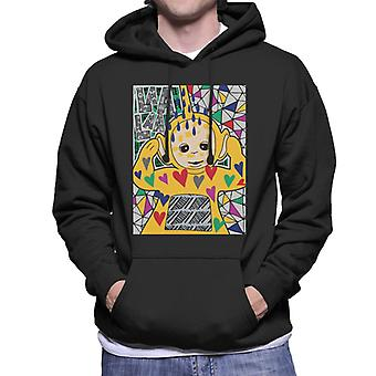Teletubbies Laa Laa Hearts Men's Hooded Sweatshirt