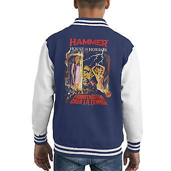 Hammer Frankenstein Crea La Femme Poster Kid's Varsity Jacket
