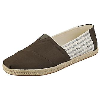 Toms Tarmac Ivy League Rope Mens Slip On Shoes in Olive