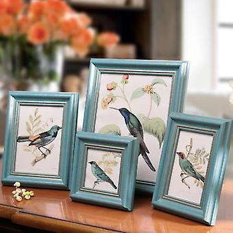 Blue Europe Style Frame Set - Table Home Decoration Photo Picture Frames