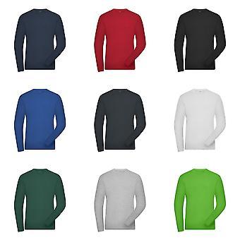 James and Nicholson Mens Organic Cotton Long Sleeve Sweater