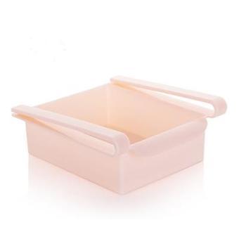 Ympäristöystävällinen monitoimilaitteet keittiö jääkaappi varastointi teline jääkaappi pakastin hyllyteline ulos laatikon järjestäjä tilaa säästäjä