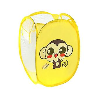 1pcs Laundry Basket Cartoon Sorting Folding Clothes Storage Basket For Children Kids