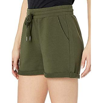 Brand - Daily Ritual Women's Terry Cotton and Modal Roll-Bottom Short, Olive, XX-Large