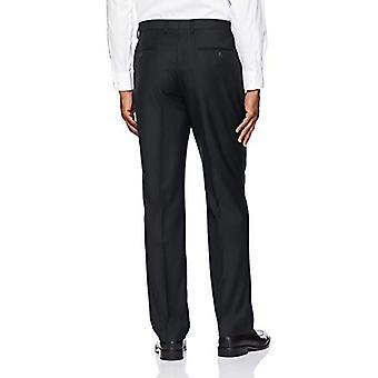 BUTTONED DOWN Men's Tailored Fit Super 110 Italiaanse wollen jurk pant, Blac...
