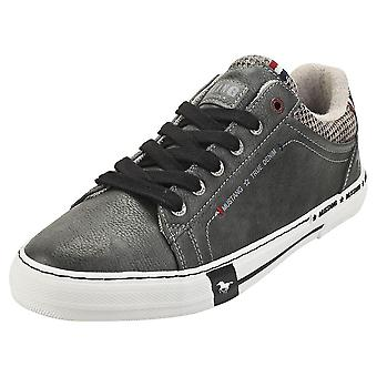 Mustang Low Top Side Zip Mens Fashion Trainers em Grafite