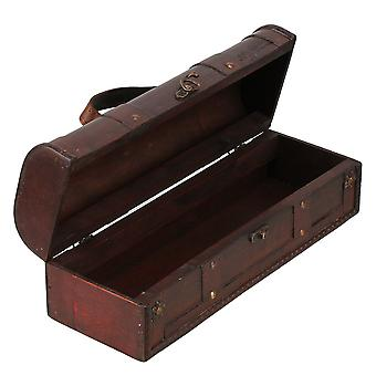 JH-6224 Antique Wooden Wine Bottle Gift Boxes Carriers Case