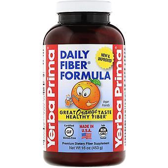 Yerba Prima, Daily Fiber Formula, Orange , 16 oz (453 g)