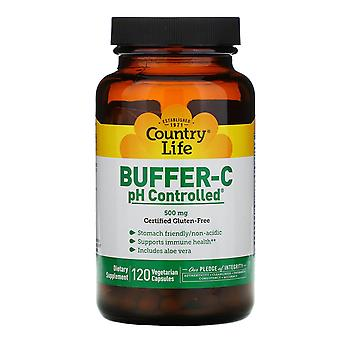 Country Life, Buffer-C, pH Controlled, 500 mg, 120 Vegetarische Kapseln