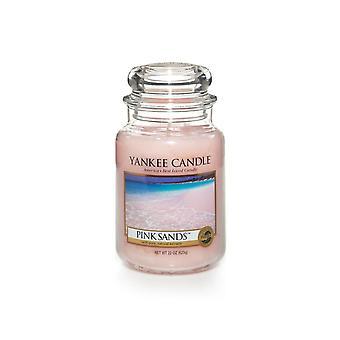 Yankee Kerze große Jar Kerze rosa Sand