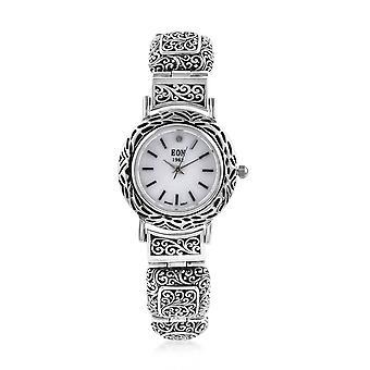 Royal Bali EON 1962 Diamond Studded Swiss Movement Sterling Silver Watch