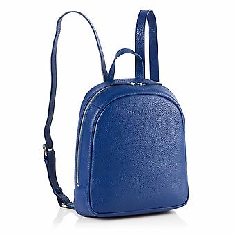 Poppy Mini Leather Backpack in Sapphire Blue Richmond Chrome Free Leather