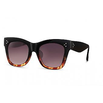 النظارات الشمسية المرأة فراشة كامل الحافة القط. 3 بني / دخان