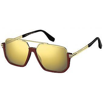Sunglasses Men's Half Edge Reflective gold/Red/Black