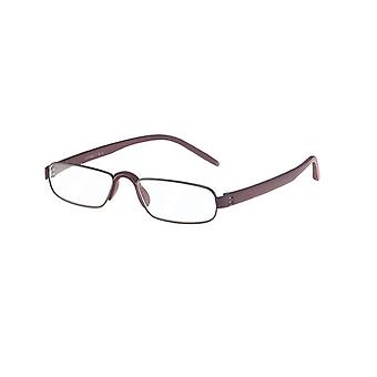Gafas de lectura Unisex Le-0163D Notario Rojo Oscuro Fuerza +3.50