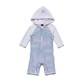Bonverano Boy One Piece UPF 50+ Sun Protection 3/4 Sleeves Zip Sunsuit Hooded