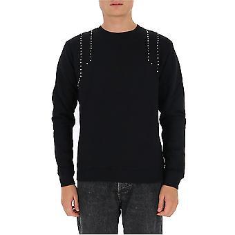 Les Hommes Ljh103756u9000 Men's Black Cotton Sweatshirt