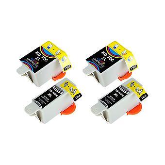 RudyTwos 2x Replacement for Kodak 30B 30C Set Ink Unit Black & Tri-Colour Compatible with ESP C100, C110, C115, C300, C310, C315, C330, C360, 1.2, 3.2, 3.2S, Office 2100, 2150, 2170 AIO, Hero 2.2, 3.1
