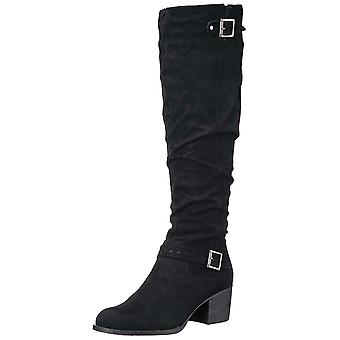 Madden Girl Womens Flaash Fabric Closed Toe Knee High Fashion Boots