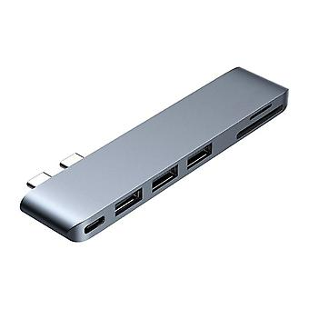 6in1 Type-c Keskittimen jakajasovitin Macbook Pro Usb-c Sd / Tf