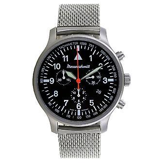 Aristo Men's Messerschmitt Watch Aviator Chronograph ME-3H202M Stainless Steel
