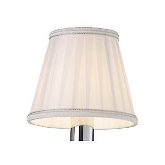 13 cm clip-on kangas lampunvarjostin valkoinen