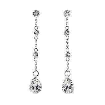 Dew Sterling sølv diverse cubic zirconia drop øredobber 5871CZ027