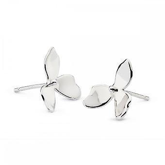 Kit Heath Blossom Petal Bloom Rhodium plaat Stud Oorbellen 40268RP028