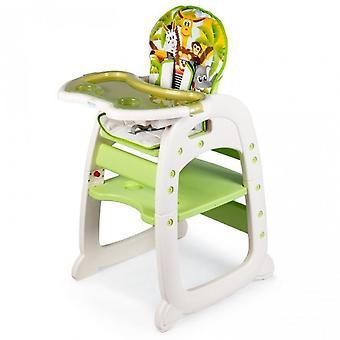 Silla de bebé en altura ajustable - hoja extraíble - verde