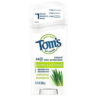 Tom's of Maine Natural Long Lasting Deodorant Refreshing Lemongrass