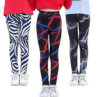 Cute Girls Printed Leggings, Flower Skinny Cloth